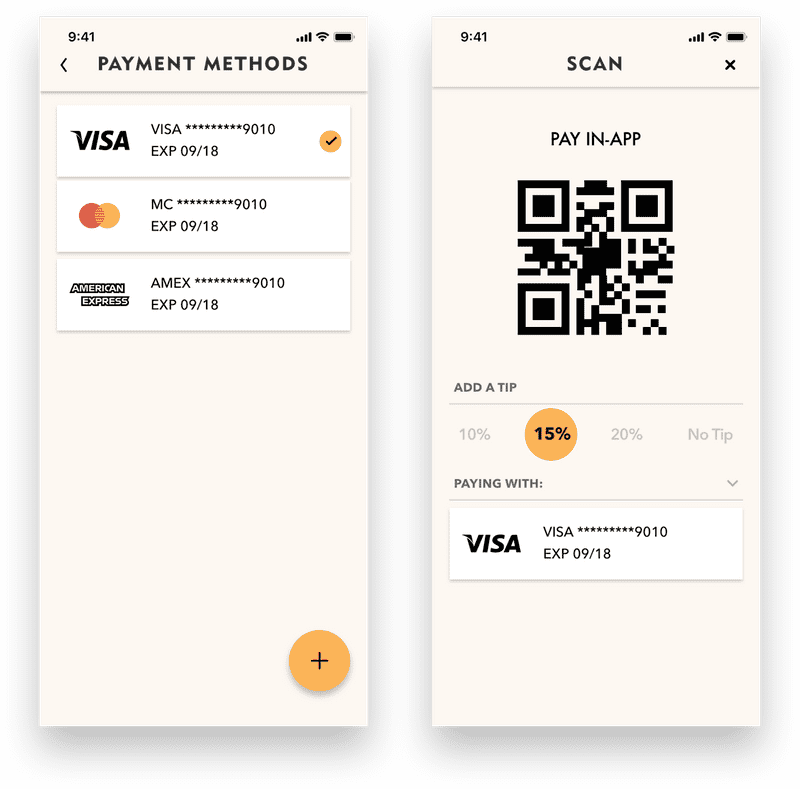 mobile app payment methods